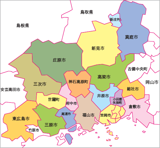 備後教区地図